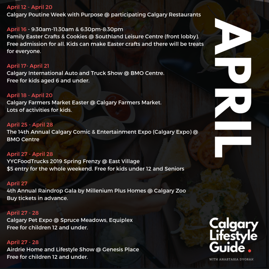 Calgary's List of Fun Events for the whole family - Calgary local events April 2019