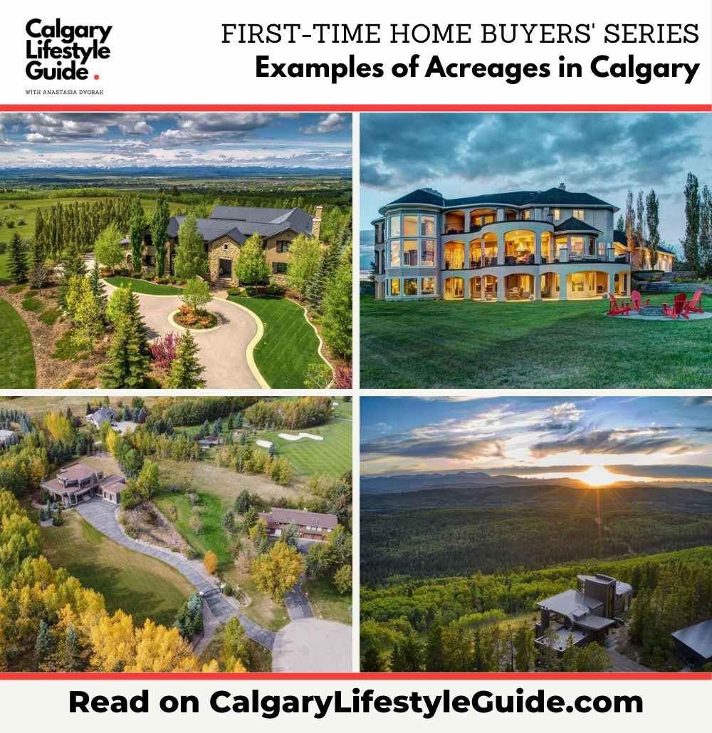 Examples of Acreages in Calgary
