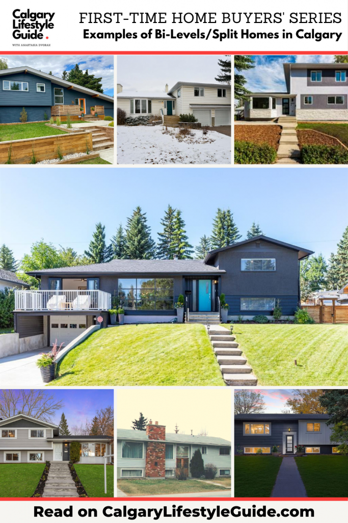Examples of Bi-Levels and Split Level homes in Calgary