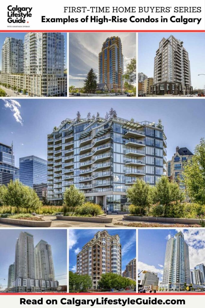 Examples of High-Rise Condos in Calgary by Calgary Lifestyle Guide
