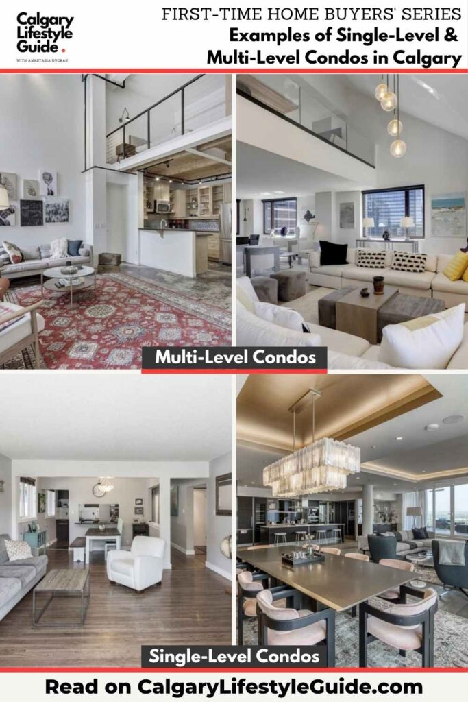 Examples of Single-Level and Multi-Level Condos in Calgary by Calgary Lifestyle Guide